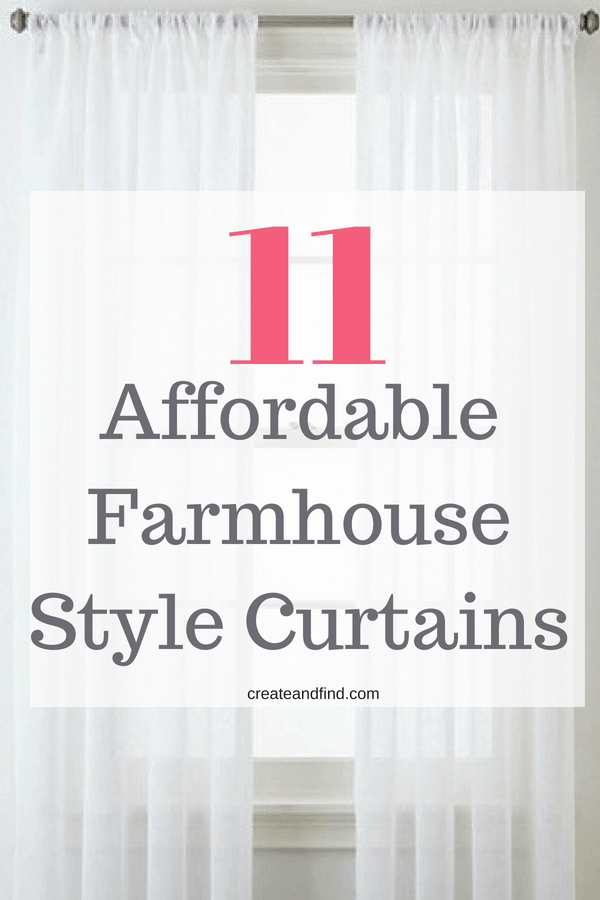 Farmhouse style curtains on a budget #createandfind #curtains #farmhousecurtains #farmhousestyledecor