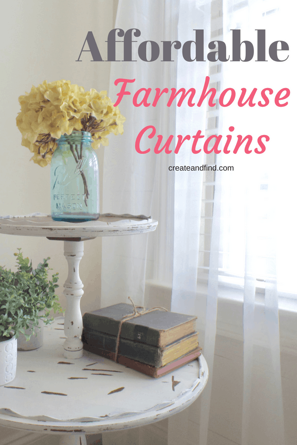Farmhouse curtains on a budget - save money on your favorite decor style with these affordable curtains #createandfind #budgetcurtains #curtains #decoronabudget #farmhousestyle