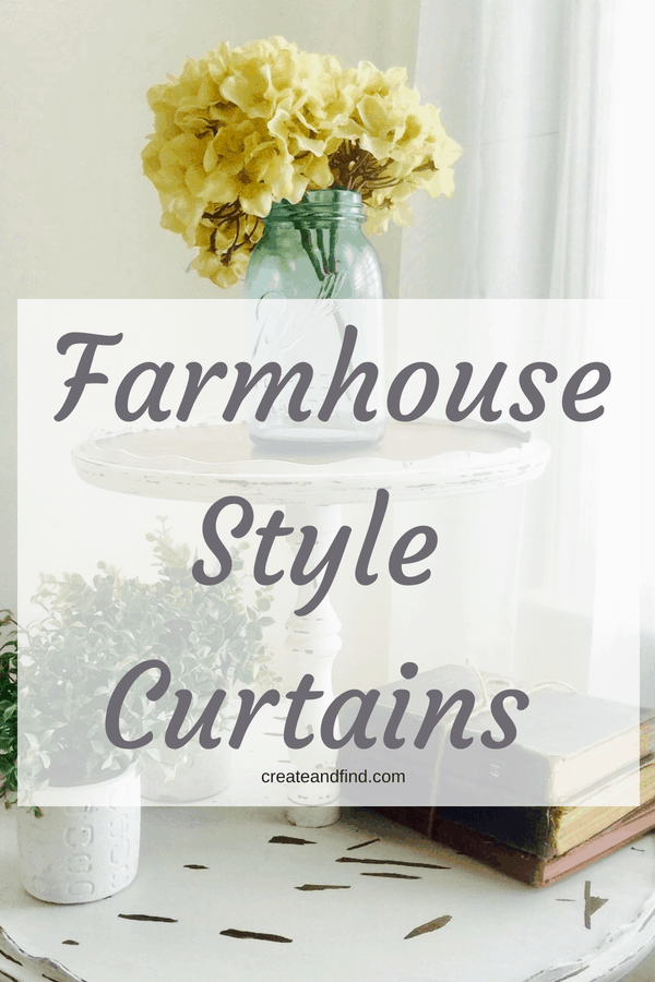 Farmhouse style curtains you can afford! #createandfind #curtains #affordablecurtains #farmhousestylecurtains