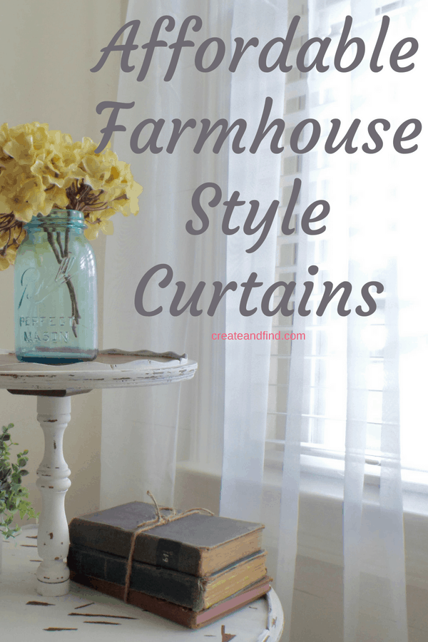 Modern Farmhouse Curtains you can afford. Gorgeous ideas for budget friendly curtains for your favorite decor style #createandfind #modernfarmhousecurtains #farmhousecurtains