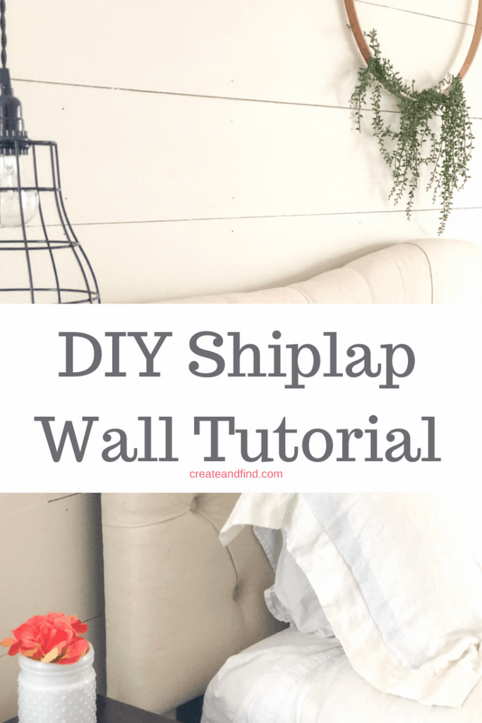 Make your own DIY Shiplap Wall