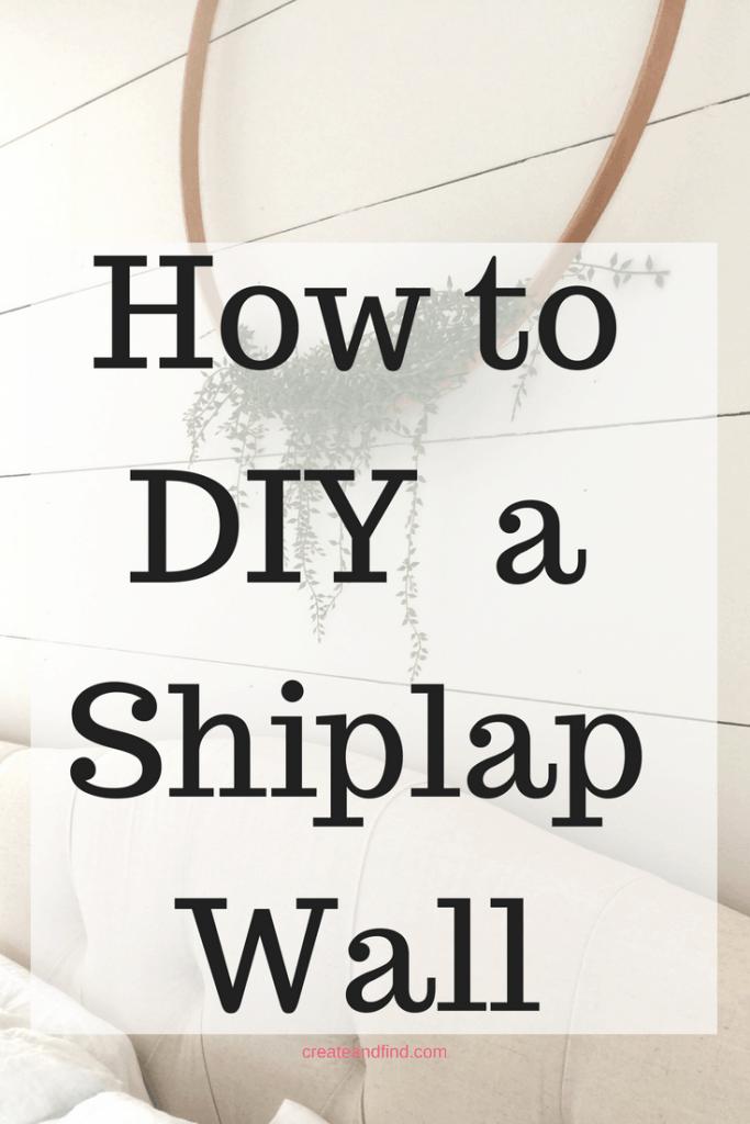 DIY Shiplap Tutorial