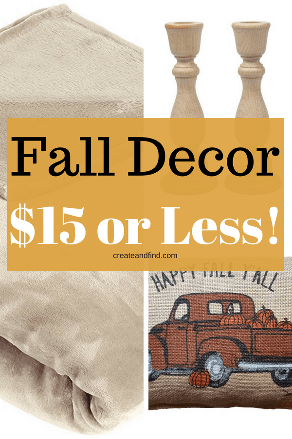 Fall Decor for $15 or less! Decorating for fall doesn't have to cost a fortune #createandfind #falldecor #fall #cheapfalldecorating