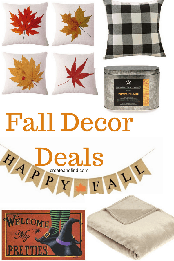 Fall Decor for cheap - add some new autumn decor for less than $15 #createandfind #falldecorating #autumndecor