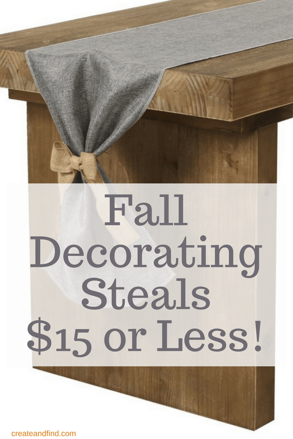 Fall decorating ideas for $15 or less! #createandfind #falldecorating #cheapfalldecor #fall