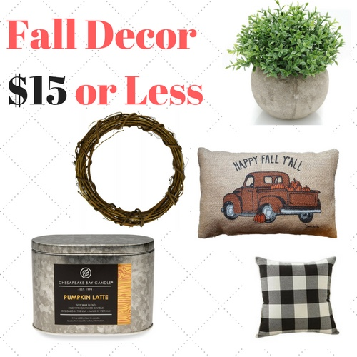 Decor For Less: Top 10 Tuesday - Fall Decor For $15 Or Less!