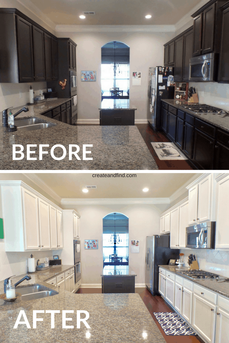 $100 DIY Kitchen Cabinet Makeover