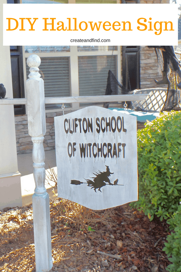 DIY Halloween Yard Art using vinyl graphics