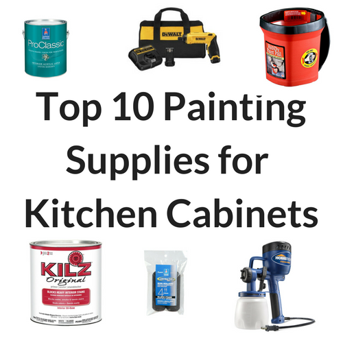 Top 10 kitchen cabinet painting supplies brown dog vintage for Best paint supplies