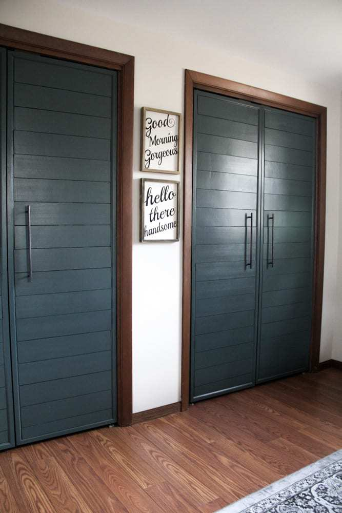 DIY Shiplap for Closet Doors