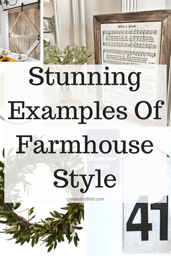 Stunning ways to add farmhouse style to your home! If you love farmhouse decor, this is a must see #createandfind #farmhousestyle #farmhousedecor #farmhouse