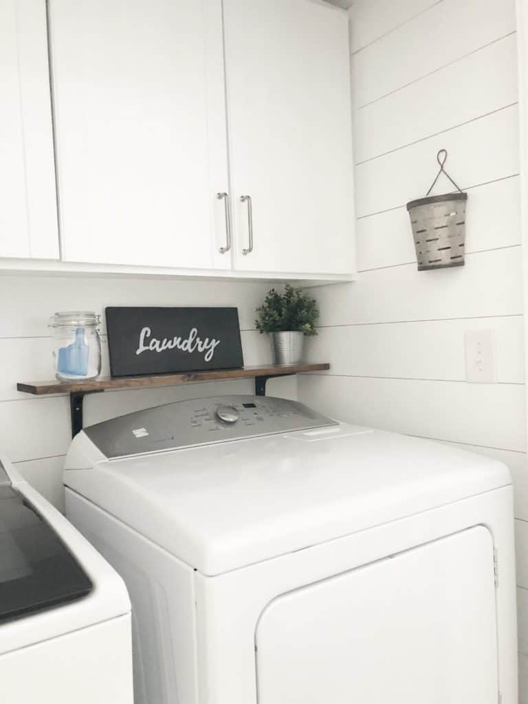 DIY Shiplap Tutorials - Laundry Room