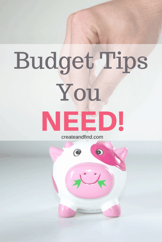 Budget tips you need to know to help you have financial security #createandfind #budgeting #savingmoney