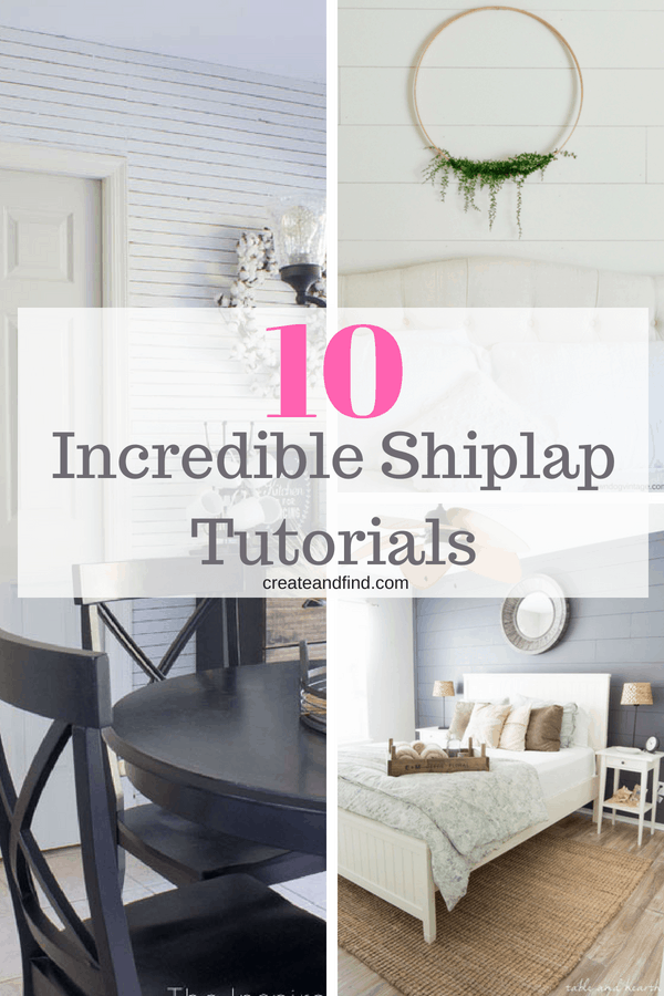 DIY Shiplap Walls - Tutorials and Instructions to add your own!