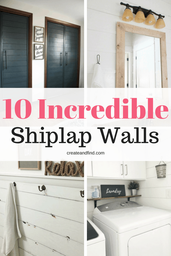 10 Incredible Shiplap Walls - Tips and tricks for adding your own shiplap feature walls!