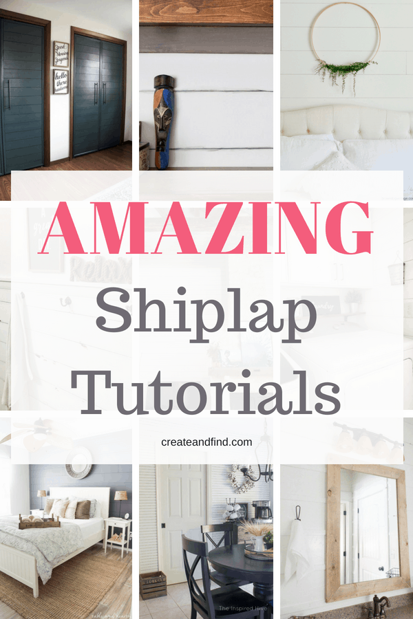 DIY Shiplap Walls - Inspiration and tutorials to make your own!
