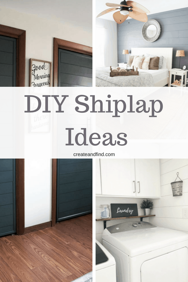 DIY Shiplap Walls - Tutorials and How To Guides to make your own!