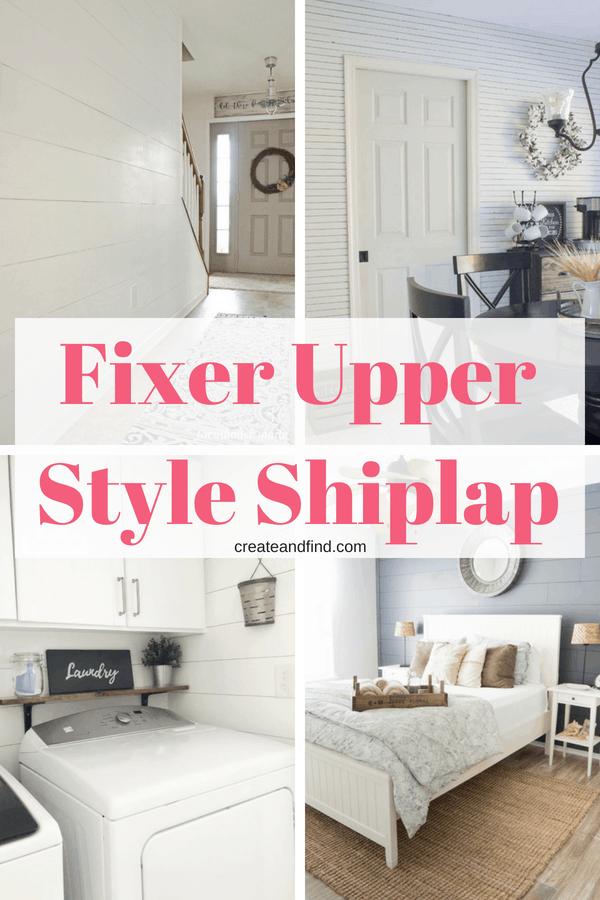 Fixer Upper Style Shiplap Walls - Tips and Tutorials