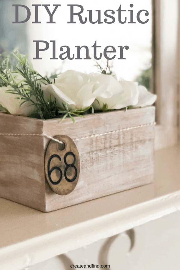 DIY Rustic Planter - Farmhouse Decor for Cheap