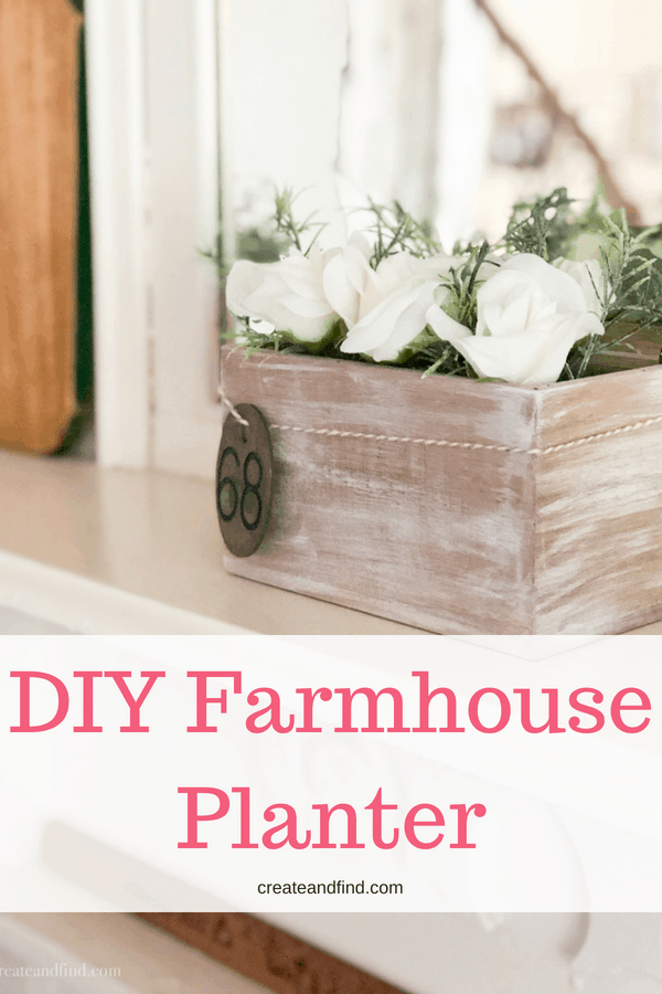 DIY Rustic Planter - Farmhouse Style in less than 30 minutes!