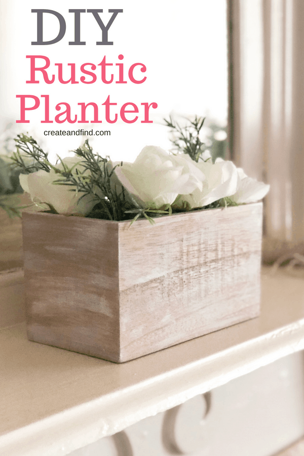 DIY Rustic Planter - Add some farmhouse charm to your house with this easy DIY!