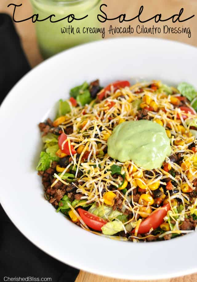 summer salads - taco salad