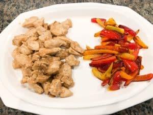 Delicious and healthy chicken fajitas