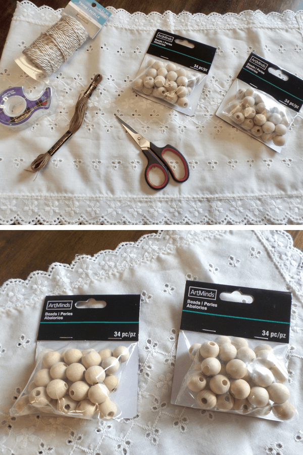 DIY Wooden Bead Garland Supplies